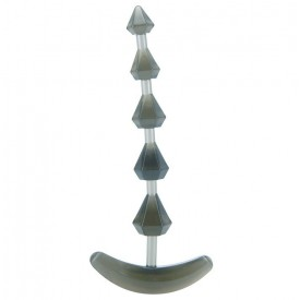 Дымчатая анальная цепочка PLIABLE PROBE - 15 см.