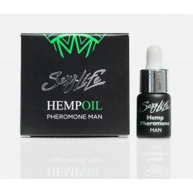 Мужские духи с феромонами Sexy Life HEMPOIL man - 5 мл.