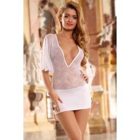 Нежное полупрозрачное платье с кружевом