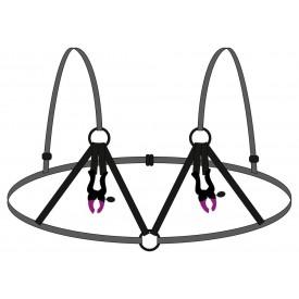 Декоративный бюстгальтер с зажимами на соски Bra with silicone nipple clamps